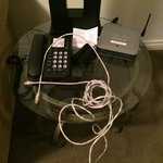 Hotel staff left a mess after they set up the internet