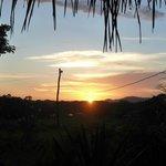 Prachtig uitzicht vanaf de lodge op de Rio San Juan