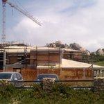 vue du chantier abandonné