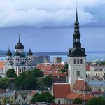 View of Tallinn for the top of the Radisson Sky Hotel