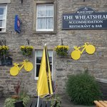Front of The Wheatsheaf - with le Tour decorations