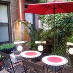 Lovely communal patio