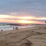 Sunset dining on the beach.