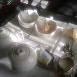Tea delivered to the room each morning