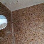 above shower