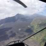 Helicopter over Etna