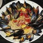 Mussels linguini... LOOKED and smelled so good...but...