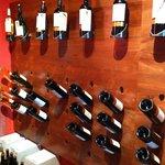 Mostruario dos maravilhosos vinhos