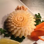 Carving from lemongrass chef