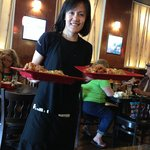 Sophie, our smiling server at the New Orient House in Roseburg Square
