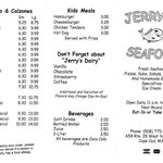 Jerry's Seafood & Dairy Freeze menu - FRONT