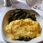 collards and  cheese grits