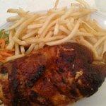 le demi poulet frites