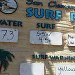Posted surf conditions
