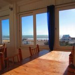 Terrasse panoramique: salle à manger intérieure