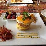 "Historic Davy House's ""breakfast sandwich"""