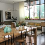 Love the light and modern ambiance of the 22 Square restaurant