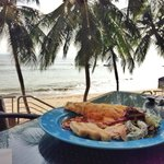 Breakfast by the beach.   Choice of food: 5/5  Taste: 4/5