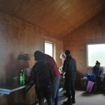 The Pass Hut, it was cold!