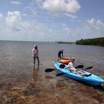 On-site kayak rental is great for exploring the area