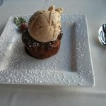 Bread Pudding with coffee ice cream