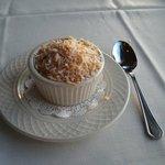 Coconut Passionfruit creme brulee