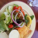 Crab Quiche with Tossed Salad