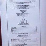 Giacomo's menu
