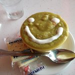 Split pea soup with a smile!