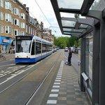 Tram nearby hotel