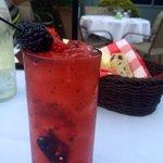 Alfa's signature berry mojito