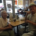 Sweet couple that enjoy the bakery. He was a chatty fella but I enjoyed his tales and how he bra