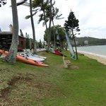 ビーチとサーフボード