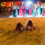 Dean Sanderson Photography- Light up dance floor on the beach