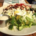 Cobb salad w/litehouse chunky bleu cheese dressing.