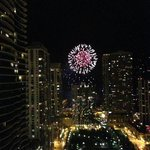 Navy Pier fireworks from room!