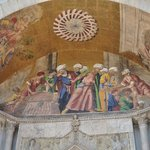 Portico mosaic showing the recovery of the remains of St, Mark being smuggled from Egypt