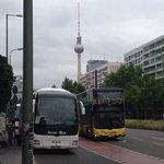 Hotellet ligger mycket nära Alexanderplatz.