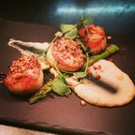 Pan seared black pearl scallops from the legendary fish Friday specials
