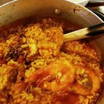 steamed style seafood paella