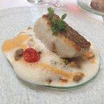 Filet de lieu jaune et Paella aux coquillages