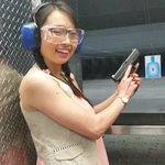 First time firing a pistol!
