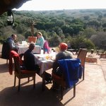 Lunch outside on a warm winters day - stunning views!