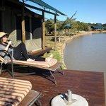 Private deck overlooking waterhole