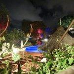 Near Piton's Restaurant at night