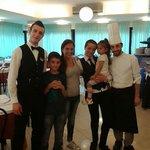 Il mitico staff del ristorante