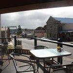 View from Retro Vibe to balcony and main street