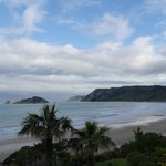 View from Rangimarie Beachstay over Anaura Bay