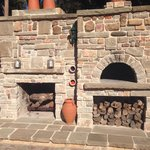 Check out the pizza oven!