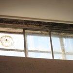 Rusty window frames.